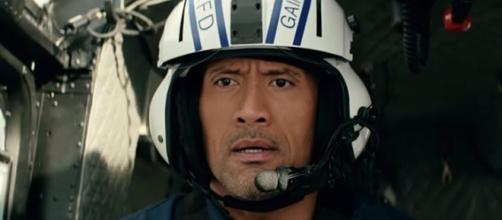 "Dwayne ""The Rock"" Johnson's character in ""San Andreas"" inspired a boy to save his brother's life [Image: YouTube' Warner Bros. Pictures]"