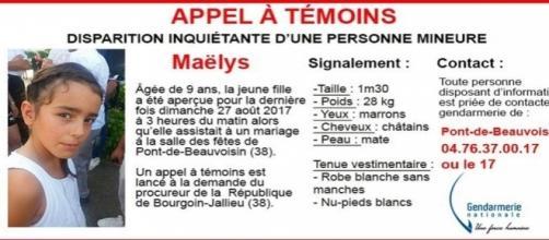 Maëlys, 9 ans, est portée disparue depuis le 27 août 2017 à Pont-de-Beauvoisin, en Isère.