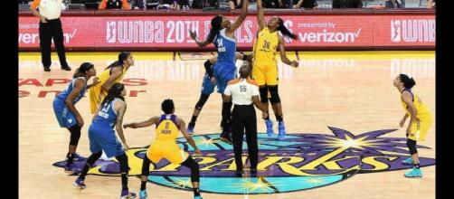 The Lynx visit the Sparks in Los Angeles on Sunday night just ahead of the WNBA Playoffs. [Image by WNBA/YouTube]