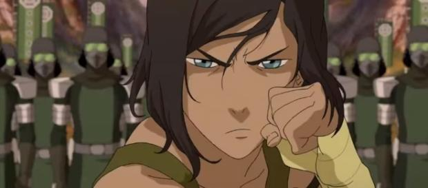 Avatar Korra in the fourth season of 'The Legend of Korra.' [Image via Youtube/Nickelodeon]