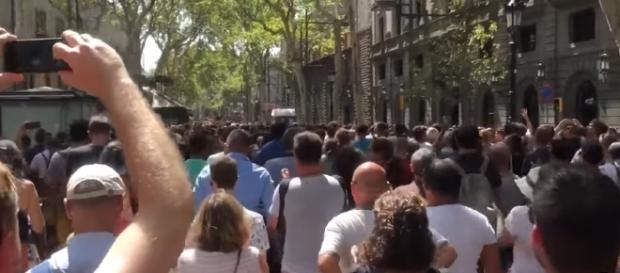 The protest march in Spain. Courtesy: Storyful News/YouTube