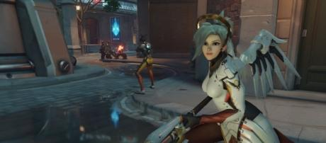 'Overwatch' hero Mercy is getting some changes. (image source: YouTube/GamingTaylor)