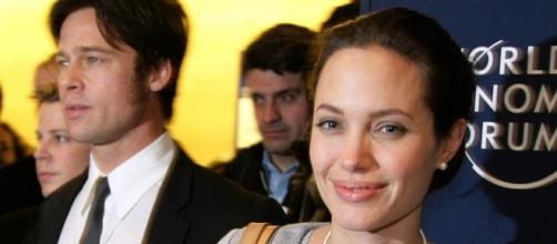Angelina Jolie willing to call divorce off if Brad Pitt will beg for another chance. (Wikimedia/World Economic Forum)