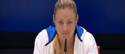 Angelique Kerber during a press conference prior to US Open/ Photo: screenshot via WeAreTennis channel on YouTube