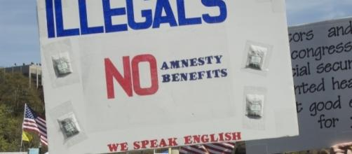 Anti-immigration advocate. / [Image by Tim Pierce via Flickr, CC BY 2.0]