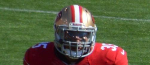 Eric Reid knelt for the anthem, and it matters. Diddykong1130 via Wikimedia Commons