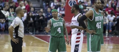 Isaiah Thomas of the Boston Celtics (Image Credit - Keith Allison/Flickr)