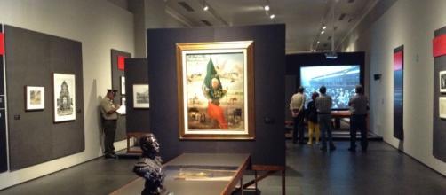 La Revolución Mexicana representada con películas, imágenes, pintura y documentos históricos.