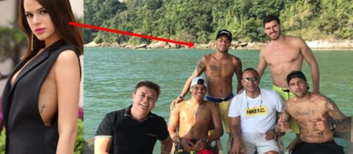Neymar e Bruna Marquezine curtem férias em lugares distintos