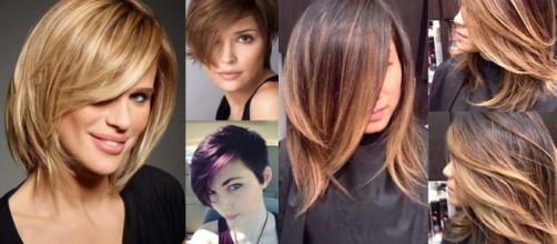 Tagli di capelli medio corti immagini