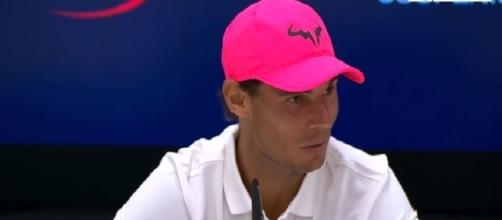 Rafael Nadal during a press conference just before 2017 US Open/ Photo: screenshot via Tennis HD channel on YouTube