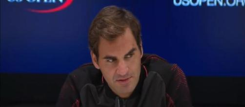 Roger Federer during a press conference just before 2017 US Open/ Photo: screenshot via Tennis HD channel on YouTube