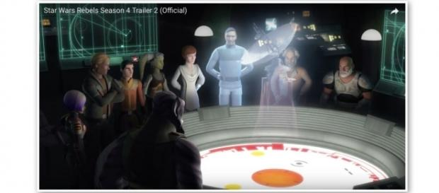Everyone gathered around the honorable via Star Wars official Youtube