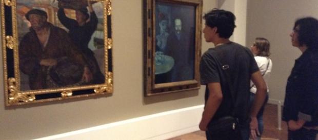 La narración pictórica de Picasso y Rivera comienza con pinturas académicas de principios del Siglo XX.