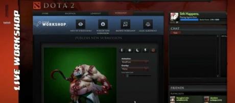 DOTA 2 on Steam   LiveWorkshop/YouTube