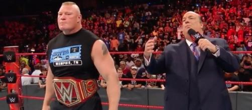 Brock Lesnar made an appearance during the latest episode of WWE's 'Raw' on Monday night. [Image via WWE/YouTube]