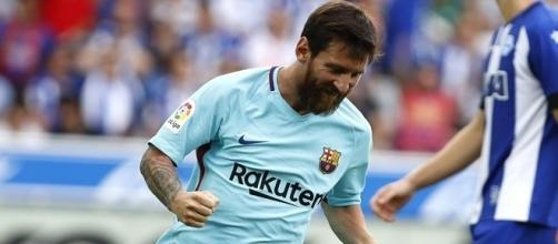 doblete de Lionel Messi ante el Alavés