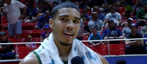 Jayson Tatum interviewed after hitting a clutch shot against the Sixers (c) Image - FreeDawson | YouTube