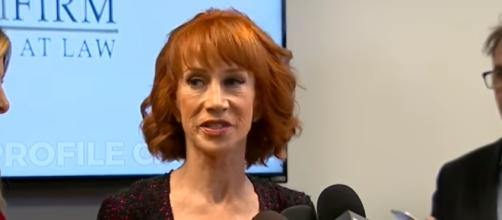 Kathy Griffin in a still from one of her interviews regarding the Donald Trump photo - YouTube/ABC News