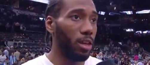 Kawhi Leonard averaged 25.5 points, 5.8 boards and 3.5 assists in 74 starts last season -- Richard via YouTube