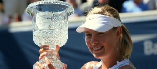 Maria Sharapova extended her mastery over Halep by winning for the seventh time -- Craig ONeal via WikiCommons