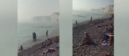 Mysterious chemical haze comes ashore in the UK leading to 150 people requiring medical treatment (Image credit: Piece of News/YouTube)