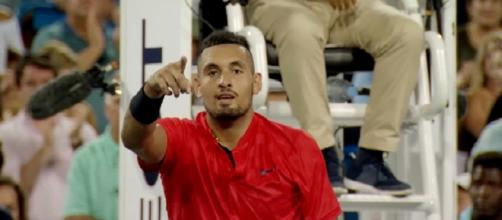 Nick Kyrgios celebrating an ATP success/ Photo: screenshot via Tennis TV channel on YouTube