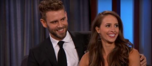 Nick Viall and Vanessa Grimaldi called it quits several months after engagement. (YouTube/Jimmy Kimmel Live)