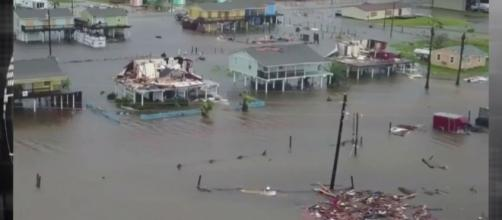 The devastation and flooding courtesy of Hurricane Harvey. / from 'YouTube' screen grab
