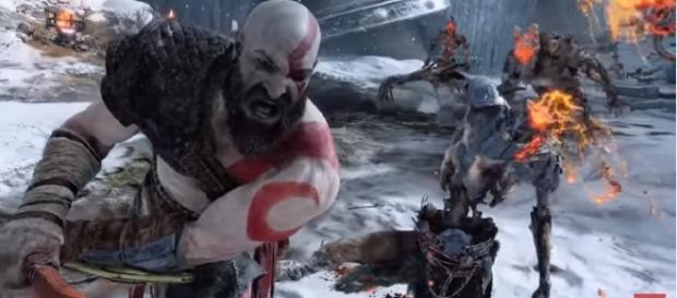 "A scene from the teaser trailer of ""God of War."" - YouTube/JorRaptor"