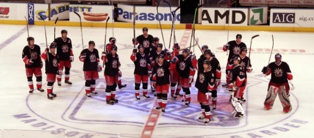 NY Rangers salute their fans. - provided by Wikimedia Commons/Joseph O'Connell