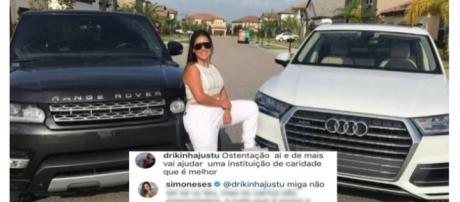 Simone disse que os carros de luxo não são dela