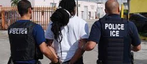 An ICE operation to weed illegal immigrants with a criminal record/ https://commons.wikimedia.org/wiki/File:ICE.XCheckII.dreads.jpg