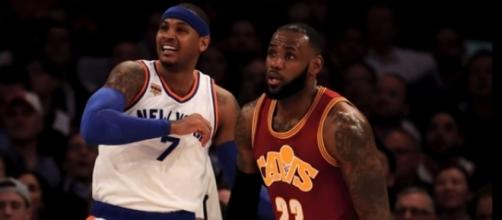 LeBron James and Carmelo Anthony reunion - the Fumble/Youtube