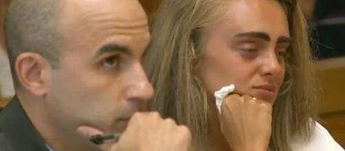 Michelle Carter at her sentencing--Image via YouTube/ABC News