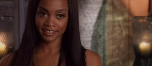 "Rachel Lindsay in ""The Bachelorette"" 2017 final rose ceremony-- Pachel Fan/YouTube.com"