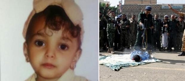 """Execuția """"monstrului"""" care a violat și a ucis o fetiță de trei ani în Yemen - Foto: colaj Daily Mail (sursă REUTERS )"""
