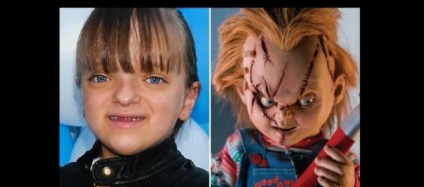 Rafa Justus ao lado do boneco assassino. (Foto: Reprodução/Instagram)