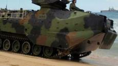Marine Amphibious vehicles used in rescue operations for search-rescue