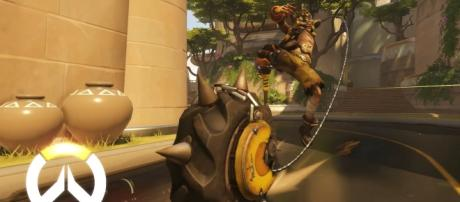 "The explosive expert Junkrat has the right stuff to go up against all heroes in ""Overwatch."" (via YouTube/PlayOverwatch)"