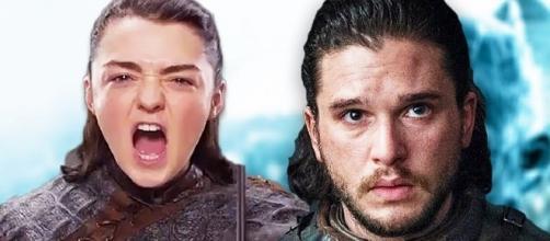 Arya and Jon in 'Game of Thrones' - Image via YouTube/EmergencyAwesome