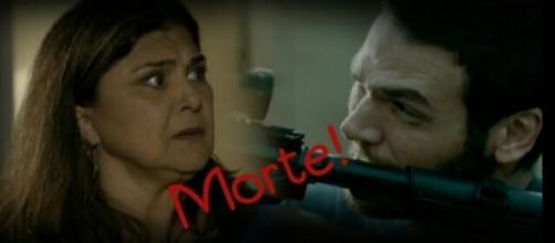 Aurora (Elizângela) nunca confiou no genro Rubinho (Emilio Dantas)