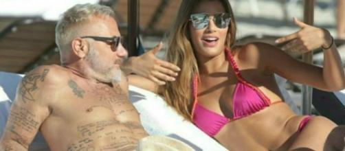 Conocido millonario Gianluca Vacchi y Ariadna Gutiérrez.