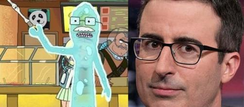 Dr. Bloom and John Oliver photoshopped