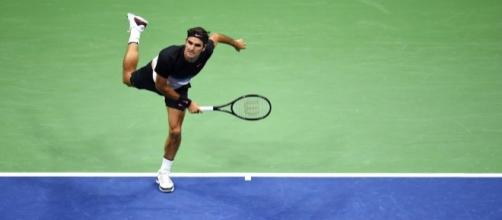 Federer in azione a New York, 2017