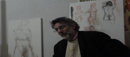 Ferrara, il pittore, sociologo e scrittore Marcello Darbo (photo dall'autore)