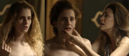 Ivana (Carol Duarte) e Joyce (Maria Fernanda Cândido), cena da novela A Força do querer
