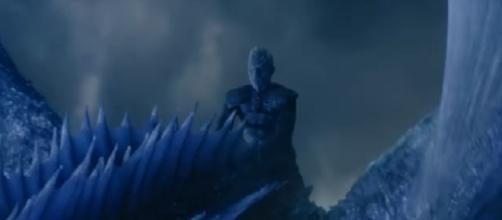 The Night King on the back of his dead dragon Viserion/ Photo: screenshot via GameofThrones channel on YouTube