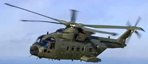 Une image de l'un des hélicoptères qui a survolé Abidjan