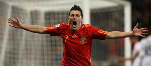 Villa marcó cinco goles en el histórico Mundial conseguido por España en 2010. Foto archivo EFE